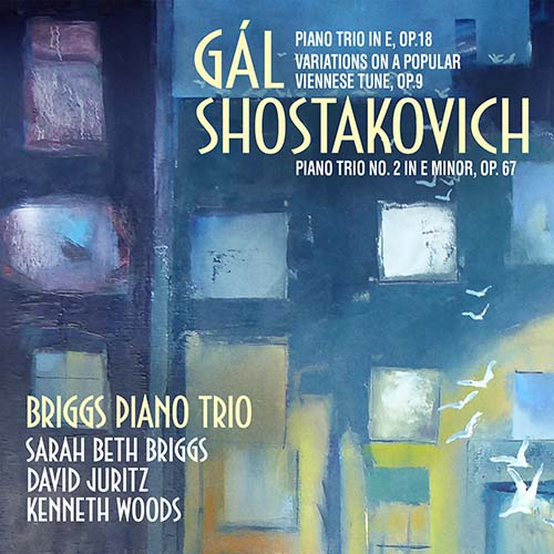 The Briggs Piano Trio Gál and Shostakovich album cover